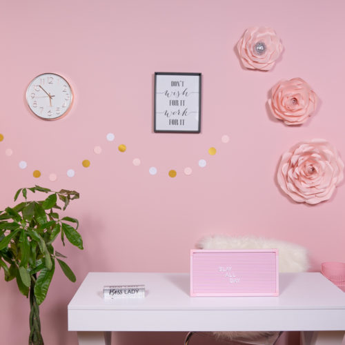 boss babe office photography background