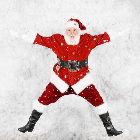 santa jumping at SNAP Foto Club
