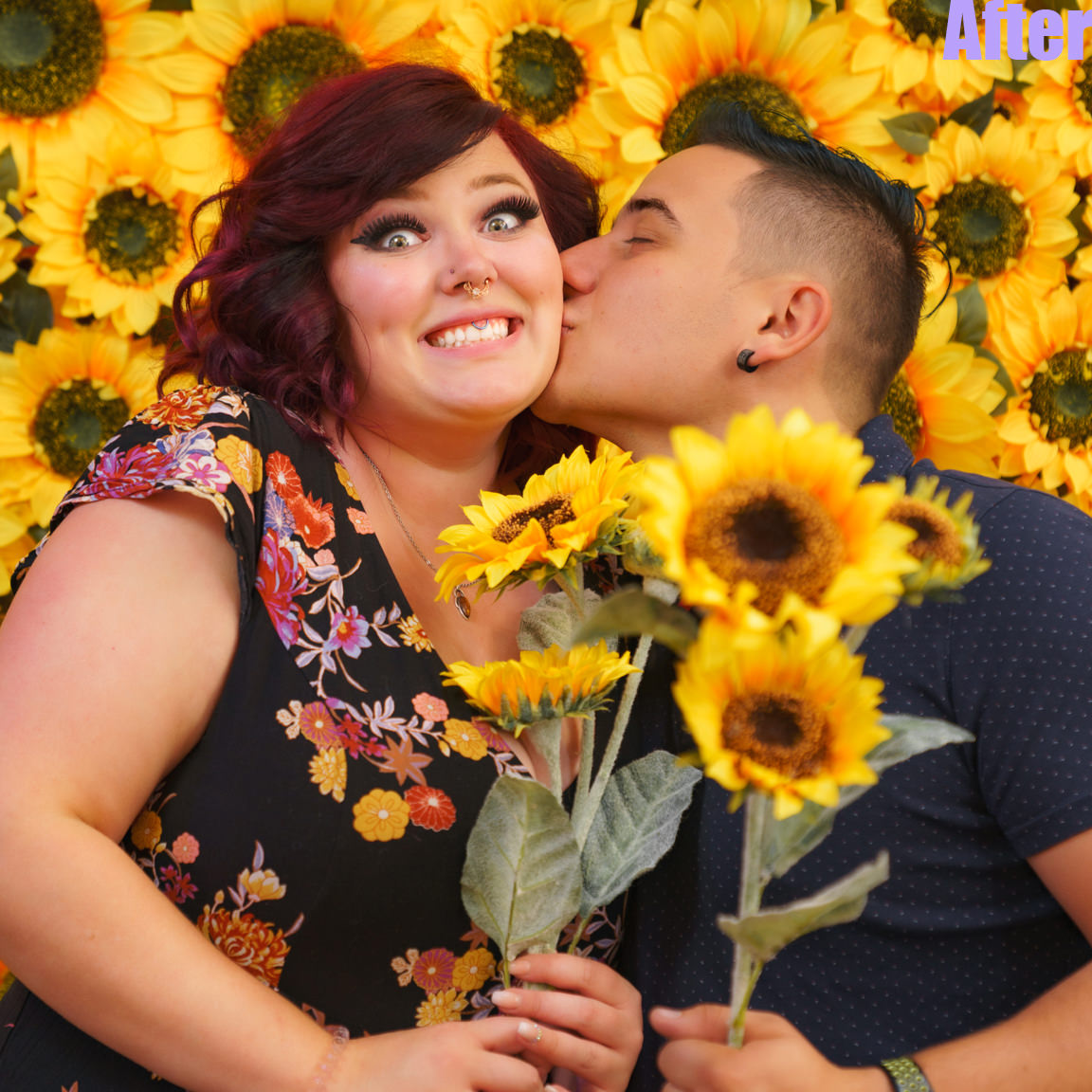 after edit-couple with sunflowers
